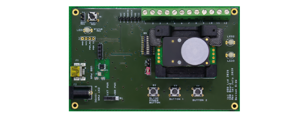 New Sensor Evaluation Board from Gas Sensing Solutions